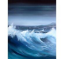 Seascape original oil painting Photographic Print