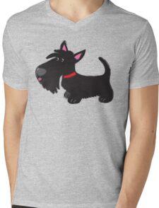 Scottie pup Mens V-Neck T-Shirt