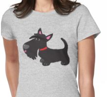 Scottie pup Womens Fitted T-Shirt