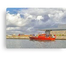 Cabin Cruiser and the Copenhagen Opera House Canvas Print