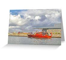 Cabin Cruiser and the Copenhagen Opera House Greeting Card