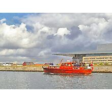 Cabin Cruiser and the Copenhagen Opera House Photographic Print