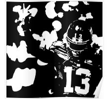 Odell Beckham Jr black and white Poster