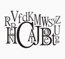 Sans Font Alphabet Soup One Piece - Short Sleeve