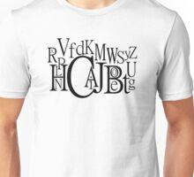 Sans Font Alphabet Soup Unisex T-Shirt