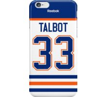 Edmonton Oilers Cam Talbot Away Jersey Back Phone Case iPhone Case/Skin