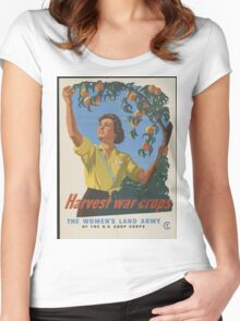 The Women's Land Army Women's Fitted Scoop T-Shirt
