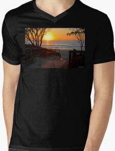 Gold Coast Sunrise Mens V-Neck T-Shirt