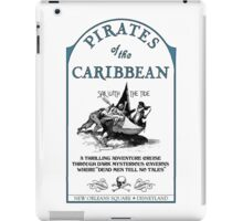 Pirates of the Caribbean Ride Sign iPad Case/Skin