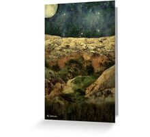 Beautiful Night in the Badlands Greeting Card