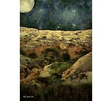 Beautiful Night in the Badlands Photographic Print