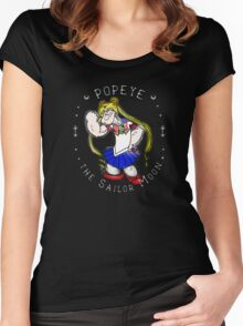 Popeye the Sailor Moon Women's Fitted Scoop T-Shirt