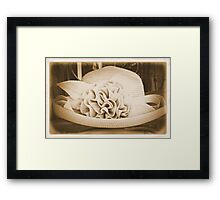 Old Hat Framed Print