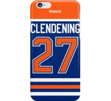 Edmonton Oilers Adam Clendening Jersey Back Phone Case iPhone Case/Skin