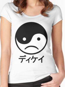 Yin Yang Face I Women's Fitted Scoop T-Shirt