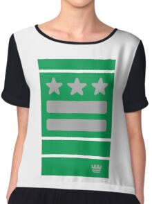 DC Represent (green) Chiffon Top