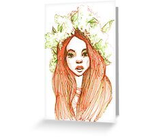 Beauty in Ballpoint Pen  Greeting Card