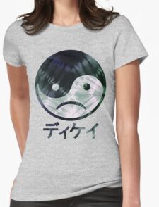Yin Yang Face III Womens Fitted T-Shirt