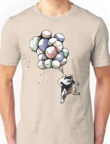 Balloon Raccoon Unisex T-Shirt
