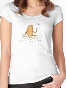 Sloth & Butterfly Women's Fitted Scoop T-Shirt