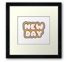New. Day Rocks. Framed Print