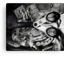 The Stolen Scissors. Canvas Print