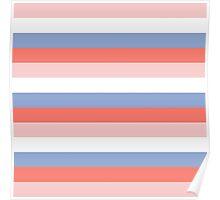 Rose Quartz + Serenity Blue - colors of 2016 ( spring / summer ) Poster