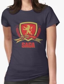 SAGA Official Merchandise BLACK Womens Fitted T-Shirt