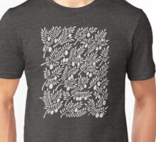 White Olive Branches Unisex T-Shirt