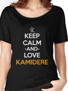 Keep Calm And Love Kamidere Anime Manga Shirt Women's Relaxed Fit T-Shirt