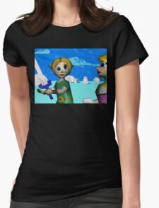 The Light of Courage: Winter Wonderland Womens Fitted T-Shirt