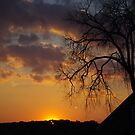 Sun Down over Gettysburg Pa. by Larry Llewellyn