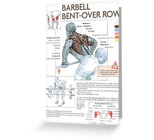 Barbell Bent-Over Row Diagram Greeting Card