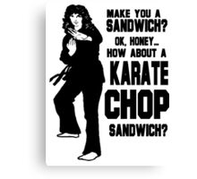 Karate Chop Sandwich Canvas Print