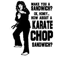 Karate Chop Sandwich Photographic Print
