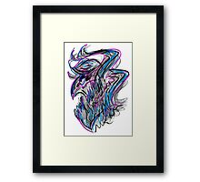 Quick Lines Creature Framed Print