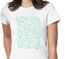Mint Olive Branches Womens Fitted T-Shirt