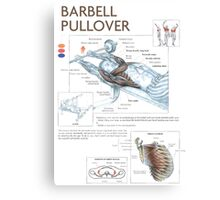 Barbell Pullover Exercise Diagram Canvas Print