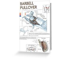 Barbell Pullover Exercise Diagram Greeting Card
