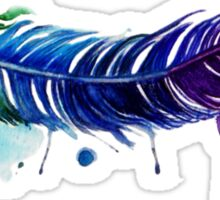 Watercolor Feather Tattoo Sticker