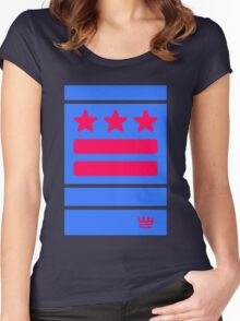 DC Represent (blue) Women's Fitted Scoop T-Shirt