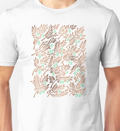 Olive Branches – Rose Gold & Mint Unisex T-Shirt