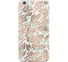 Olive Branches – Rose Gold & Mint iPhone Case/Skin