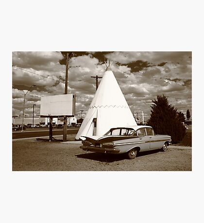 Route 66 - Wigwam Motel Photographic Print