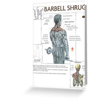 Barbell Shrug Exercise Diagram Greeting Card