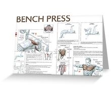 Barbell Bench Press Exercise Diagram Greeting Card