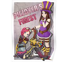 Piltover's Finest - Vi and Caitlyn League of Legends Poster