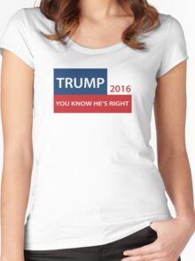 Trump 2016 You know he's right  Women's Fitted Scoop T-Shirt