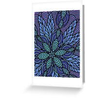 Waves of Floral Greeting Card