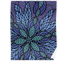 Waves of Floral Poster